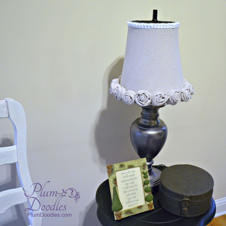 Fabric Covered Trash Can Lamp Shade