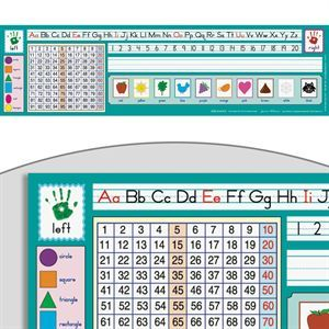 Zaner-Bloser 100 Grid Self-Adhesive Deluxe Plastic Desktop Helpers™ - Set Of 30