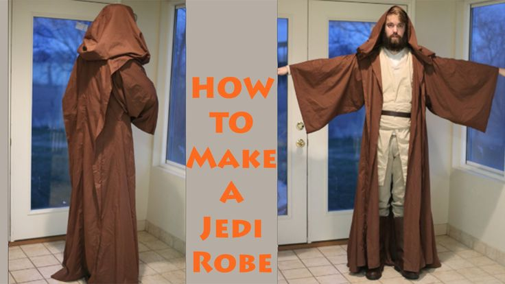 This Jedi Robe turned out so amazing! It's the perfect size for this DIY Costume. This cloak with easy step by step instructions is great! ↓↓↓↓↓↓ CLICK TO SE...