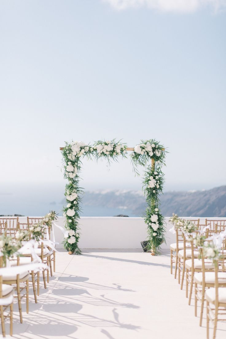 Santorini, Greece destination wedding ceremony: Photography: Ben Yew Photography + Film - benyew.com   Read More on SMP: http://www.stylemepretty.com/2017/03/13//