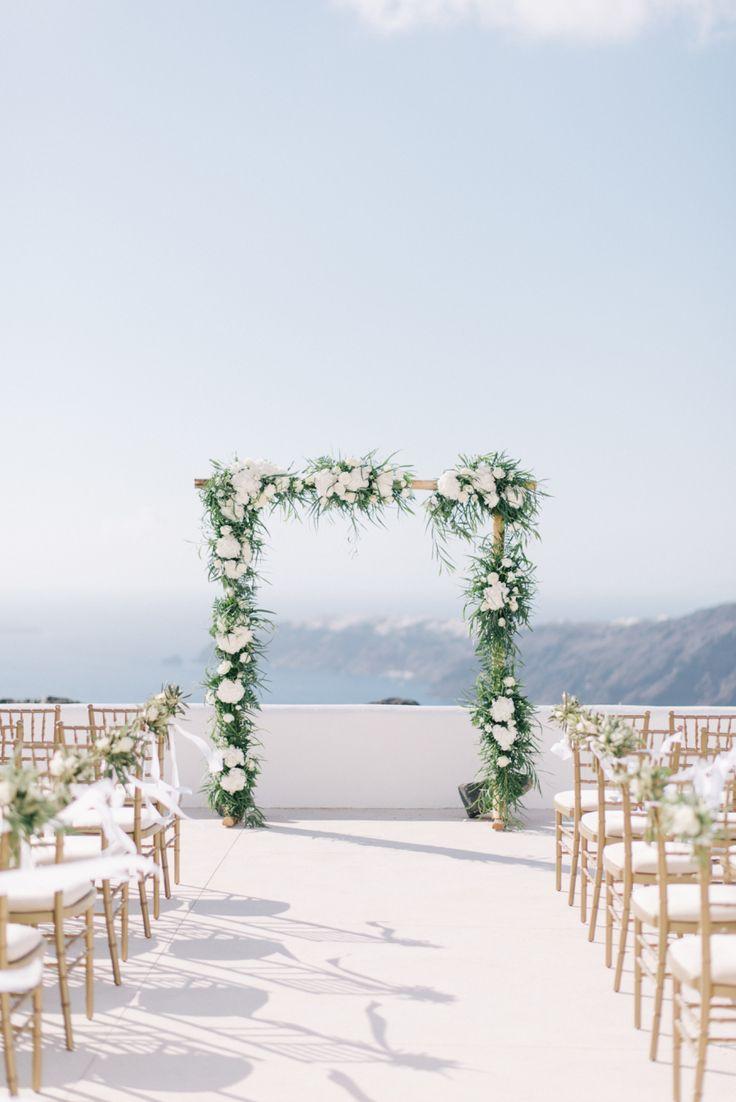 Santorini, Greece destination wedding ceremony: Photography: Ben Yew Photography + Film - benyew.com   Read More on SMP: http://www.stylemepretty.com/2017/03/13//