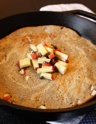 Buckwheat Pannekoek with Apples and Cacao Nibs  Recipe adapted from Phillip Kirschen-Clark, Vandaag, NYC