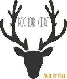 Pochoir cerf                                                                                                                                                                                 Plus