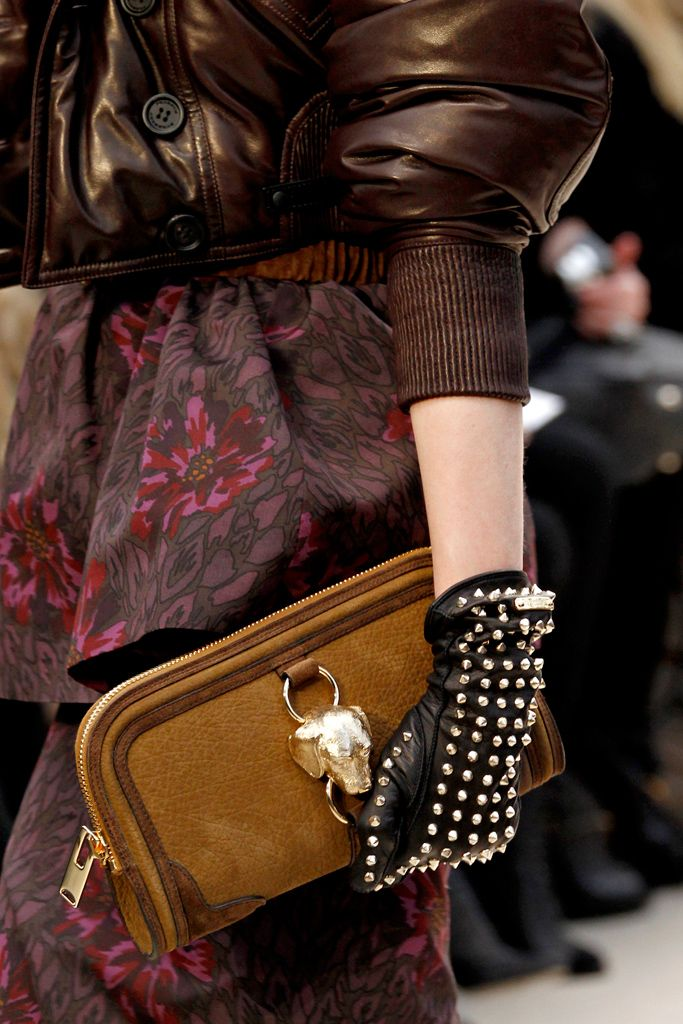 Studded glove from Burberry Prorsum. FW 2012 RTW.