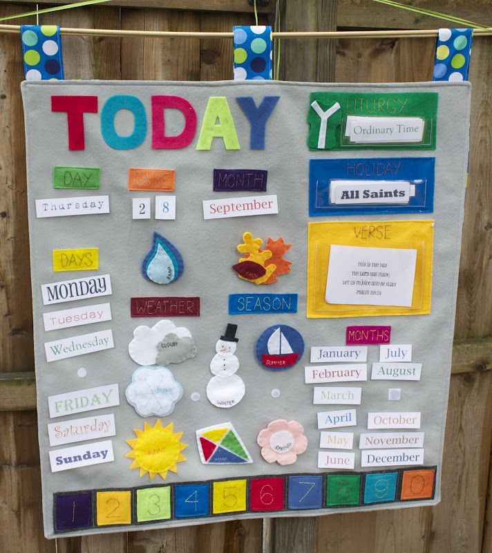 Handmade by Meg K: Our DIY Learning Calendar