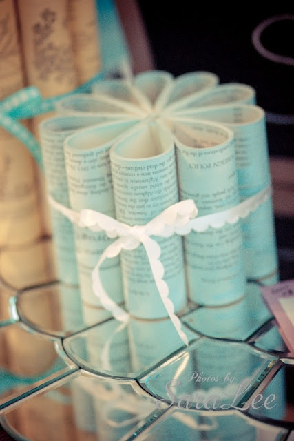 Sweet Little Gals: A Touch of Vintage #3 {Vintage Book Flowers}