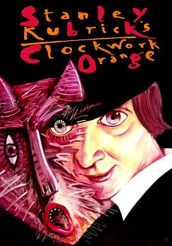 Clockwork Orange Limited edition art poster inspired by the Stanley Kubrick's movie Original Polish poster designer: Leszek Zebrowski year: 2007 size: B1