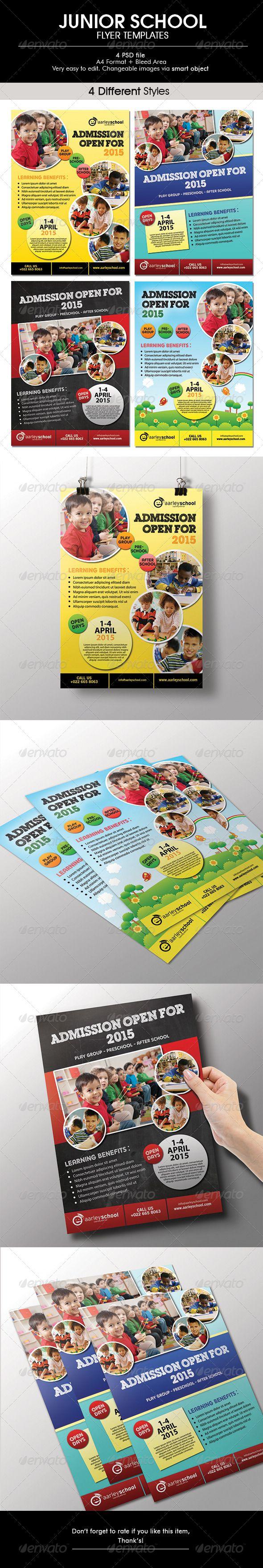 Junior School Flyer  #GraphicRiver