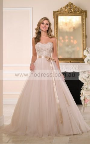 Ball Gown Sweetheart Natural Sleeveless Floor-length Wedding Dresses wes0131--Hodress