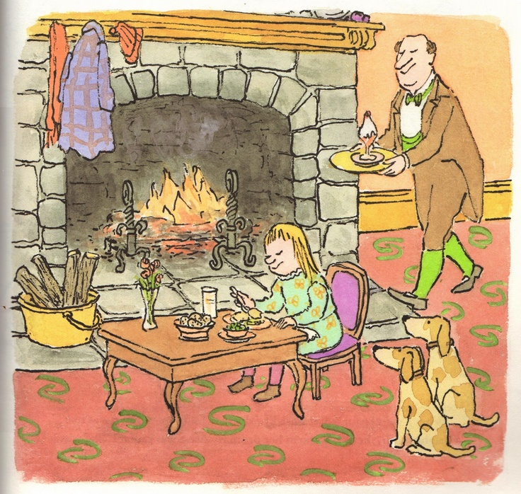 painting box: From 'Brave Irene' by William Steig