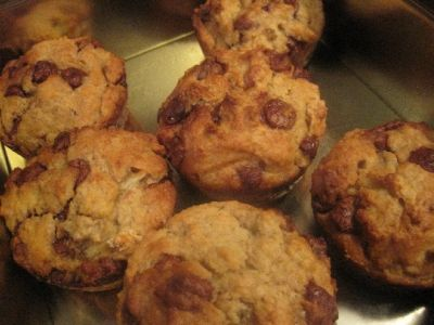 Banana, Choc Chip and Weetbix Muffins