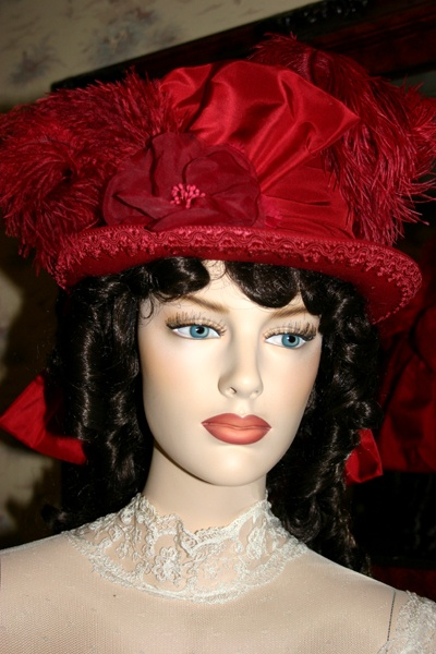 """Lady Bug"" Victorian Hat designed by Darna"