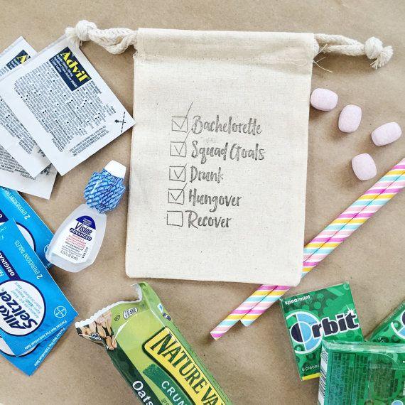 Hangover Bachelorette Checklist Bag  by PaperArtScissors on Etsy