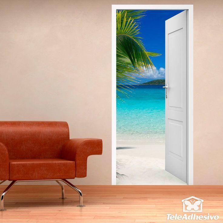 Vinilo puerta al caribe