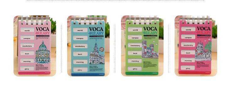 Bonito Criativo Escola Mundo Palavra Aprendizagem Livro Bobina Vocabulário Tela Mini Notebook Notepad Material Escolar Papelaria Escolar FBZ21 em Cadernos de Office & School Suprimentos no AliExpress.com | Alibaba Group