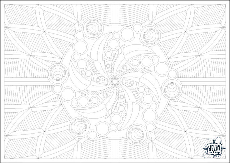 """15th Image for the Colouring Christmas Calendar! Circles... and symmetry... and mathematics. I think every image I've made for this series could be reduced to algorithms. I don't rember even placing any elements """"randomly"""" or just thrown in there. The Link: https://drive.google.com/open?id=0B2hOsgD06RP4QWZNbmxuOHpmWmc #colouring #coloring #christmascalendar #adventvcalendar"""