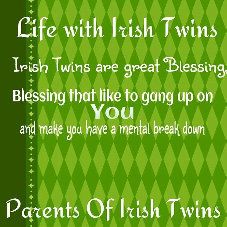You Know How Children Are Made, Right? Irish Twins | The Beginning | by LaurenCop – The Olive Shoe