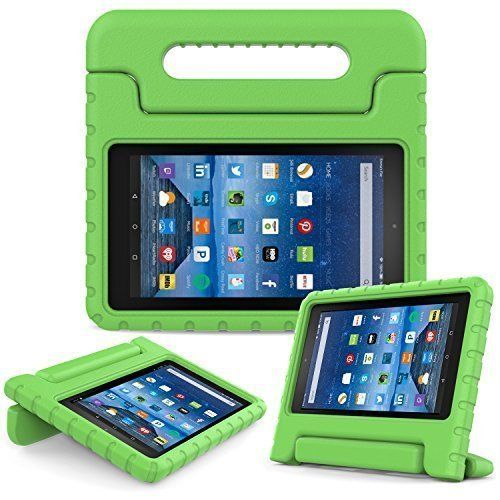 Fire 7 2015 Case, UCMDA Kids Shock Proof Convertible Handle Light Weight Super Protective Cover Stand for Amazon Kindle Fire 7 Inch Display Tablet (5th Generation-2015 Release Only)- Green - http://www.computerlaptoprepairsyork.co.uk/new-product-releases/fire-7-2015-case-ucmda-kids-shock-proof-convertible-handle-light-weight-super-protective-cover-stand-for-amazon-kindle-fire-7-inch-display-tablet-5th-generation-2015-release-only-green