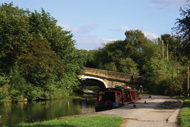 Barge on canal, Bingley, by Lisa Firth (May 2013 cover)