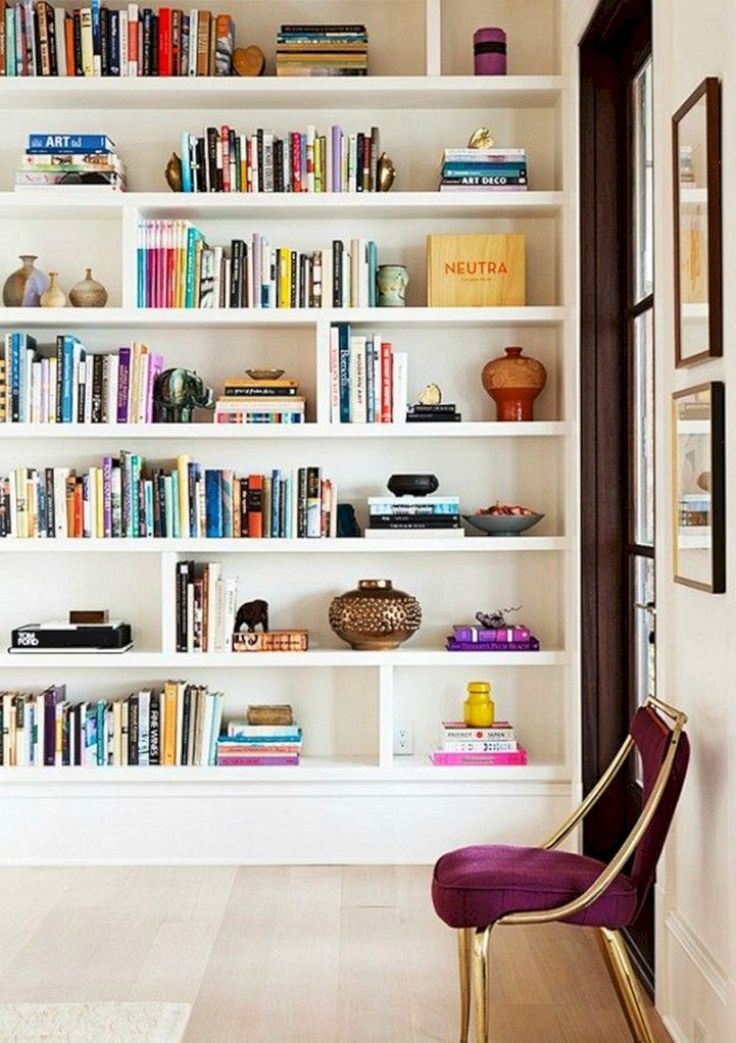 Majestic 40+ Most Popular Bookshelf Decorating Ideas for Your Home https://freshouz.com/40-most-popular-bookshelf-decorating-ideas-for-your-home/-awesome organized built in bookshelf-colorful bookshelf- perfectly styled bookshelf