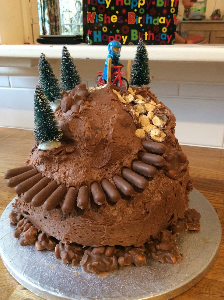 Birthday cake mountain biking                                                                                                                                                      More
