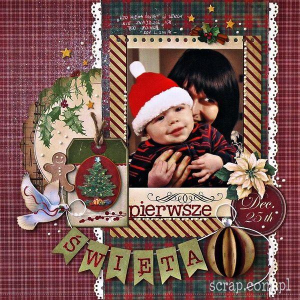 Pierwsze Święta to moment, który zdecydowanie zasługuje na uwiecznienie na scrapie! :-)