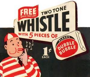 "Type of Source: Advertisement - Date of Origin: 1928 - This is a gum advertisement from the late 1920s as gum was introduced in 1928. Walter Diemer is credited for the first successful invention of bubble gum. While working at Fleer Chewing Gum Company, Diemer accidentally made a formula that allowed a chewer to blow bubbles. Fleer Chewing Gum Company marketed Diemer's new gum as ""Double Bubble"". Until Bazooka Bubble Gum was invented, Double Bubble was the only bubble gum on the market."