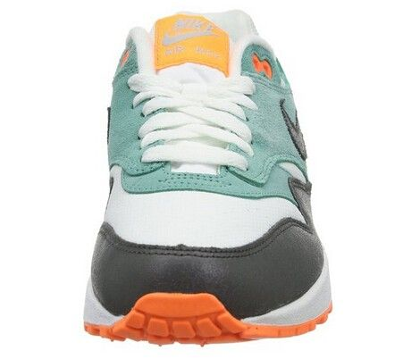 Air Max 1 Essential Dames wit/groen/Atomic oranje schoenen,Goedkope Nike Air Max 1 Essential Dames