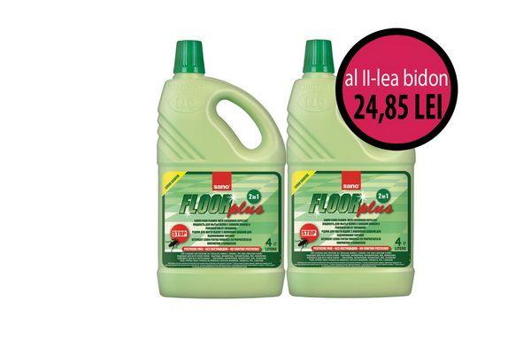 La orice bidon de detergent de pardoseli (cod 0032.1) cumparat, primesti al 2-lea bidon cu 50% reducere! Adica la doar 24,85 lei!
