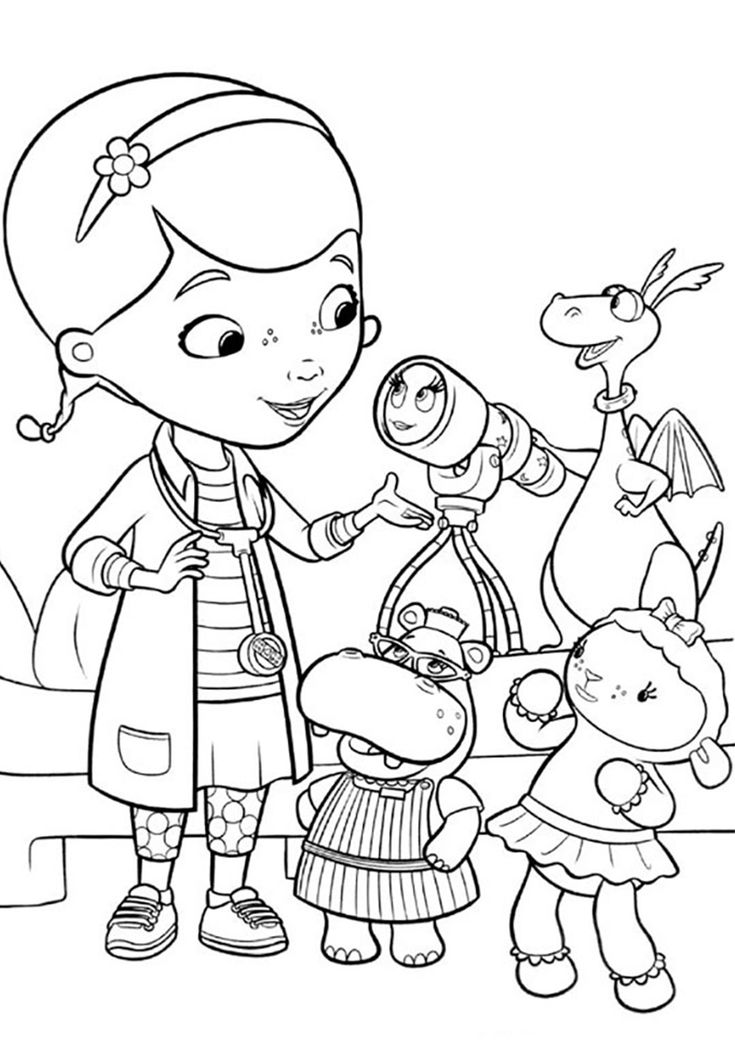 Download Telescope Disease (With images) | Doc mcstuffins coloring pages, Coloring books, Birthday ...