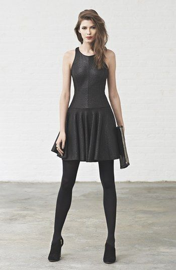 Milly Fit Amp Flare Dress Tights Shoes Brittney