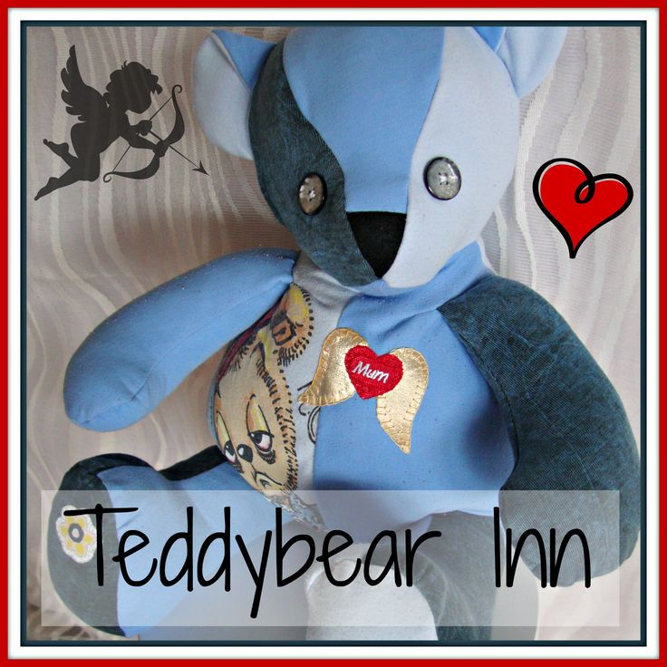 Memory bear created from the pyjamas and t-shirts of a very loved and missed mother.