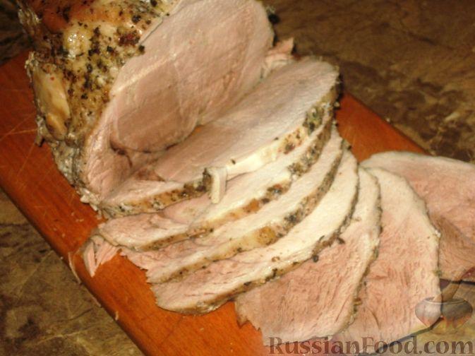 Фото приготовления рецепта: Свинина, шприцованная сливками - шаг №6