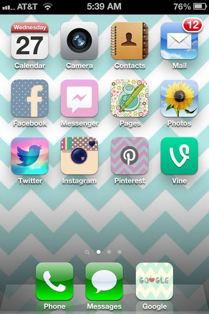 Love this app, cocoPPA to customize my iphone. I have this same wallpaper and i love the icon colors for the apps ;) #app #custom