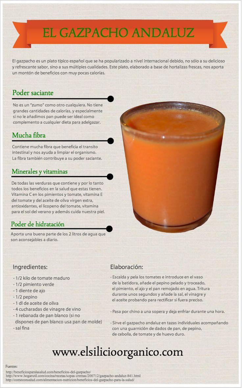 Propiedades y beneficios del #gazpacho andaluz #infografia
