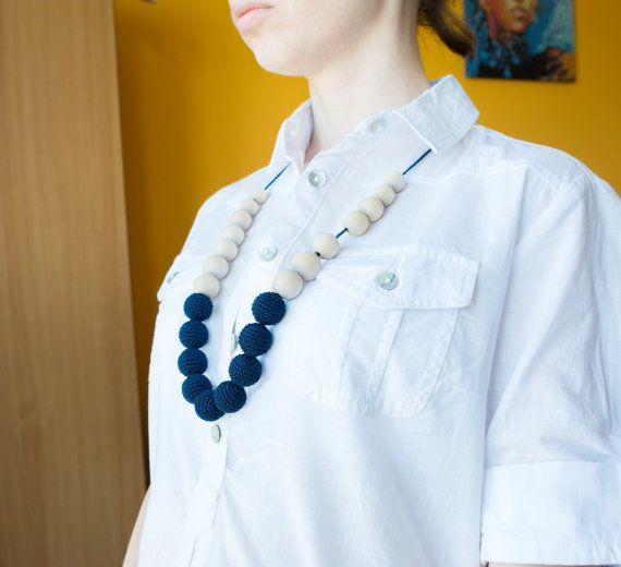 Crochet teething necklace Eco friendly nursing by MyFirstToy