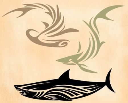 abstract-shark-tattoo-design
