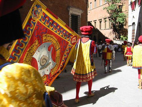 part of the the Contrada della Chiocciola procession