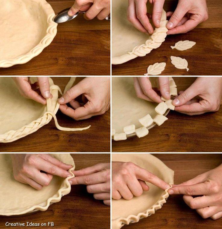 Décorations pour pâte à tarte