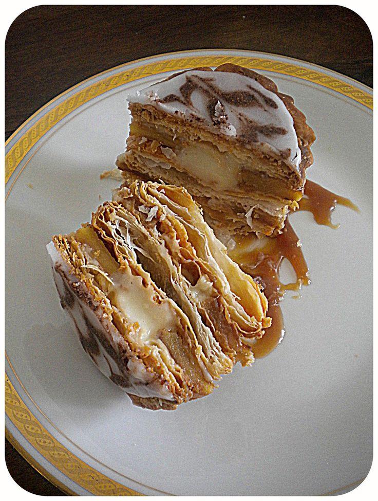 Le millefeuille de pommes caramelisées et crème chiboust de la petite cuisine de Sabine