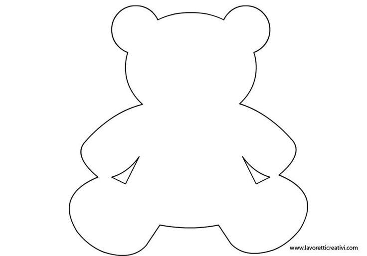 SAGOME ORSETTO Sagome per realizzare simpatici orsetti di legno, di carta o di altro materiale.