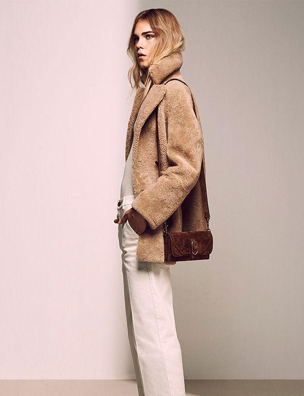 Furry jacket.Massimo Duti