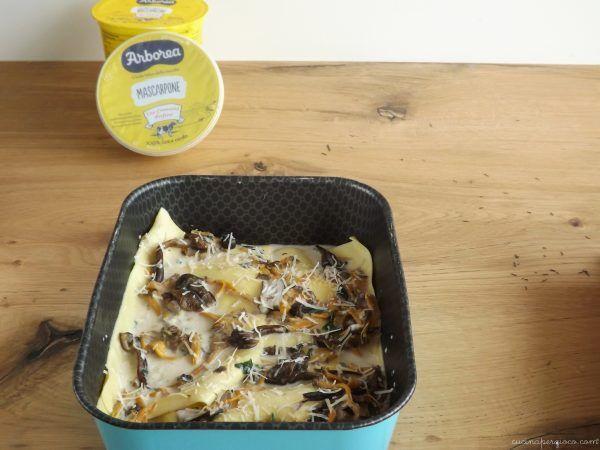 Lasagne al forno con funghi e mascarpone | Cucina per Gioco