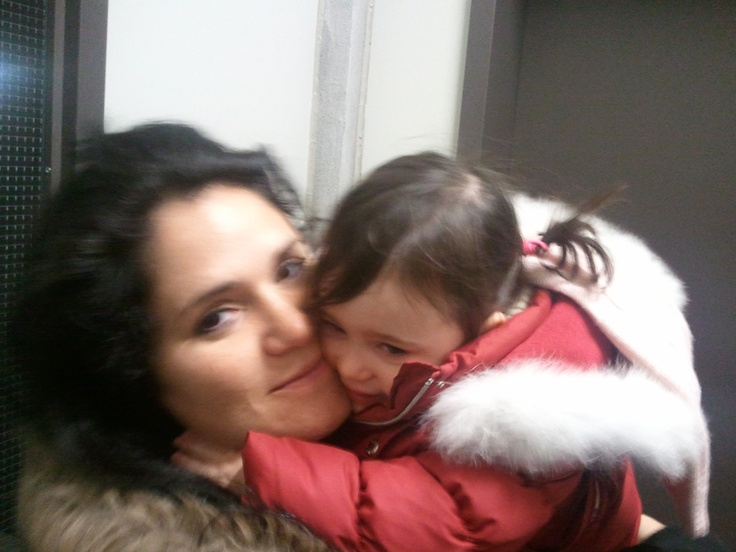My beautiful wife and my older daughter