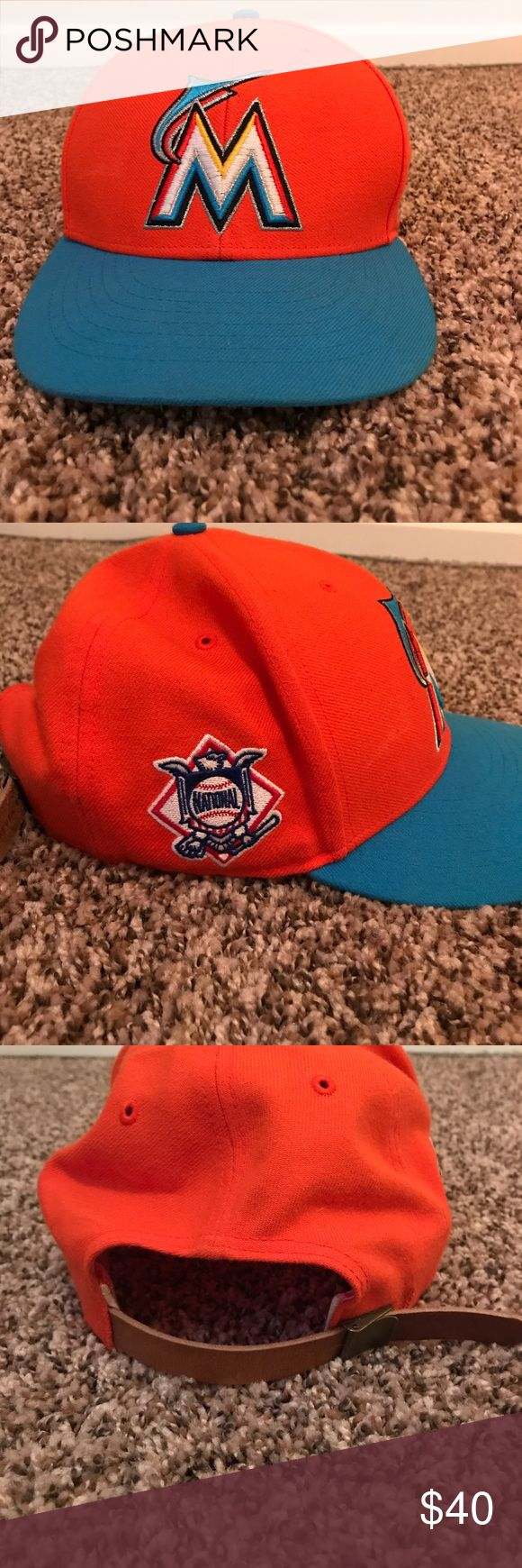Miami Marlins Leather strap back Miami marlins limited edition strap back '47 hat Accessories Hats
