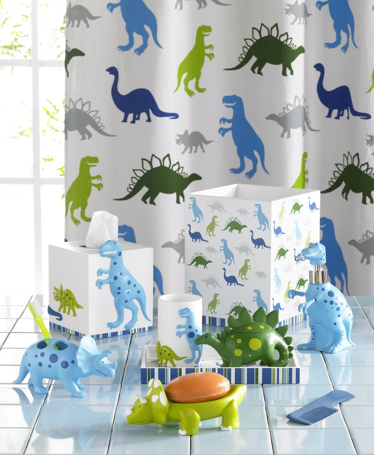 Bambini Dino Park Accessories By Kassatex   Oooh I Like This For Isaacs New  Bathroom