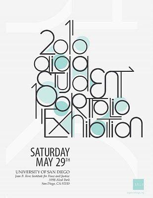 AIGA San Diego Portfolio Review Poster