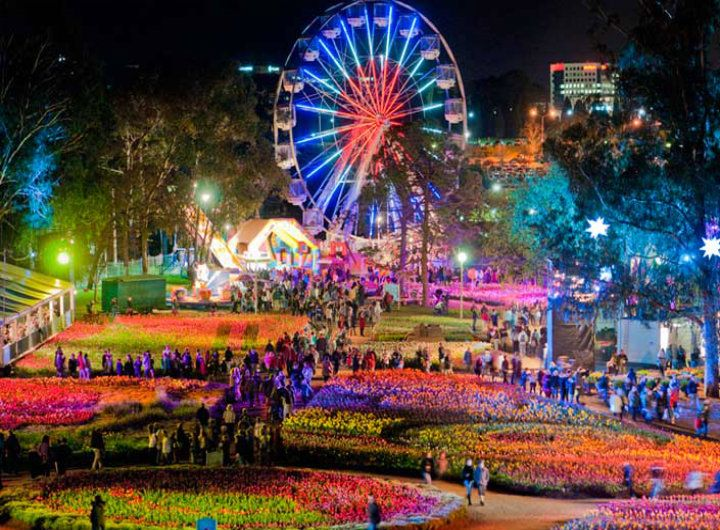 A view of Floriade Flower Festival & Nightfest, Canberra