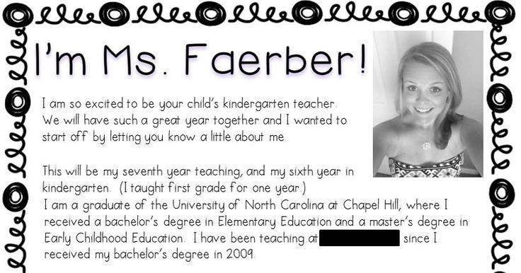 Carolina Teacher: Welcome Letters and Kindergarten Assessments {Freebies}