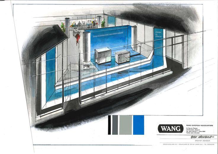 Ontwerp WANG hoofdkantoor. Ontwerp Ger Dorant, Design & Selling, Laren NH Nederland